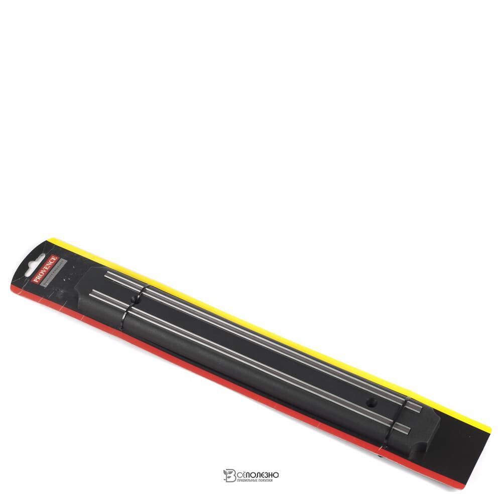 Вешалка настенная пластмассовая магнитная для ножей 55 см 102755
