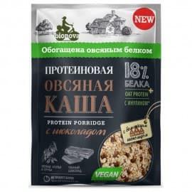Протеиновая каша быстрого приготовления BIONOVA овсяная с шоколадом Бионова 40 гр 105123