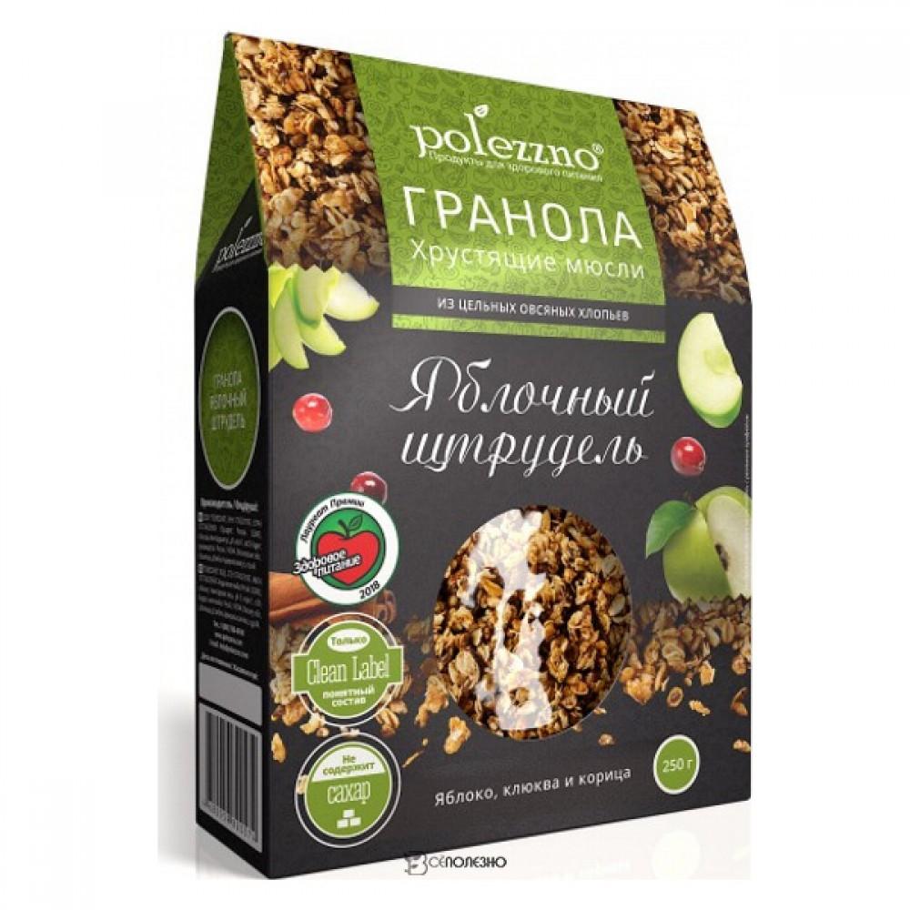 Гранола с яблоком и корицей Яблочный штрудель 250 г POLEZZNO 160109