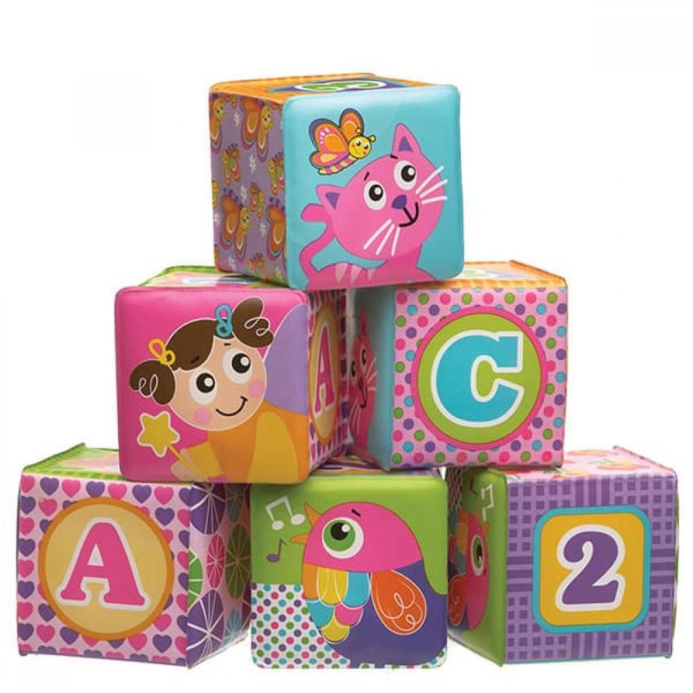 Развивающие мягкие кубики для купания Playgro 0184164