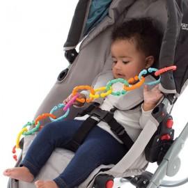 Развивающая цепочка-прорезыватель Разноцветные колечки Playgro 0184556