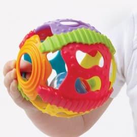 Развивающий мячик-погремушка Занимательный шар 4083681